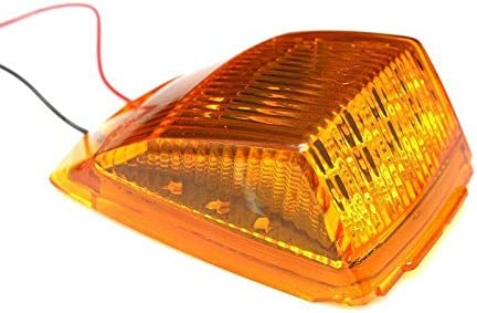 2 x Amber Lens Amber 17 LED Roof Running Top Clearance Light Assembly for Kenworth 12V