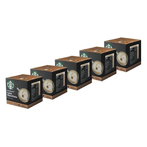Nescafé Dolce Gusto Starbucks Latte Macchiato 5er Set, Kaffee, Milchkaffee, Kaffeekapseln, 5 x 12 Kapseln