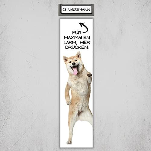 Shiba Inu Japan Schild Klingel Lärm Spruch Türschild Hundeschild Fun cool Design