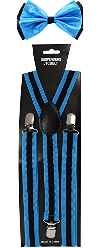 JTC Belt Pack Bretelles/nœud Papillon Nombreuses Variations Disponibles - Bleu - Taille Unique