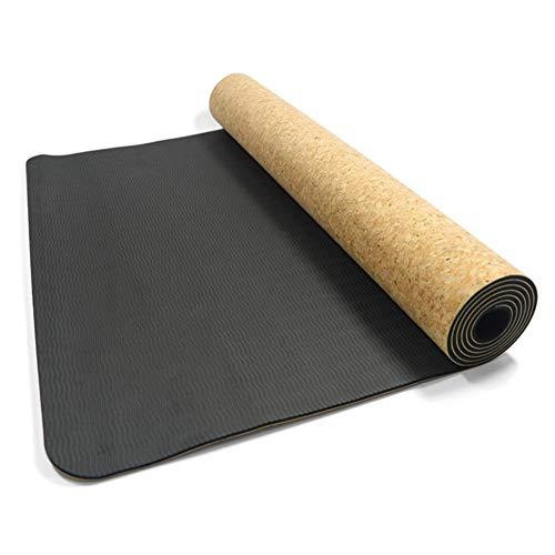 OPIUYS Alfombras de yoga, alfombras antideslizantes naturales, fitness, gimnasia, yoga, deportes, alfombrillas de viaje, portátil, sin olor, duraderas