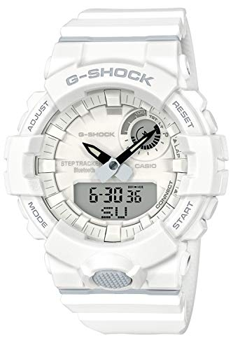 [カシオ] 腕時計 ジーショック 歩数計測 Bluetooth 搭載 GBA-800-7AJF メンズ ホワイト