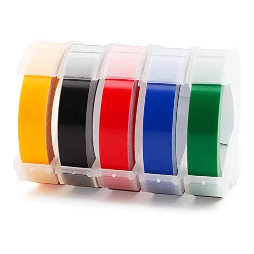 Nrpfell 5 Unids 9Mmx Dymo 3D Cinta Mezclada de PláStico de Color Mezclado para Etiquetas en Relieve DYMo 1011 1610 1595 15447 12965