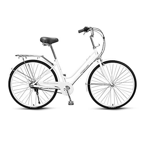 Bicicleta, Bicicleta de Viaje Diario, Bicicleta de Ocio Interior de 5 Velocidades, Ruedas de 26 Pulgadas, Marco de Acero de Alto Carbono de Bajo Alcance, Que Pueden Usar Tanto Hombres Como Mujere