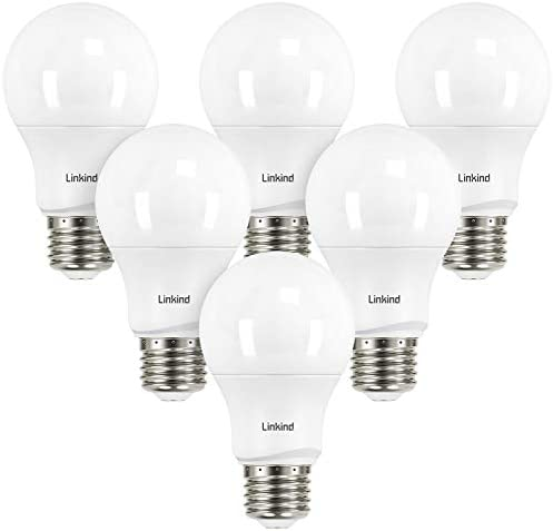 Linkind Dimmable A19 LED Light Bulbs 40W Equivalent E26 Base 5000K Daylight 5 7W 480 Lumens product image