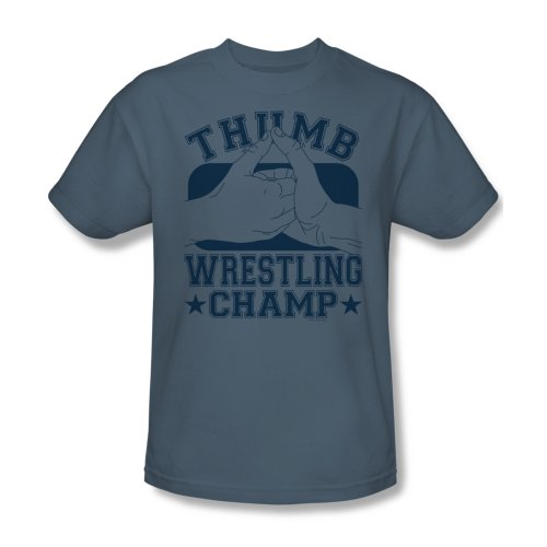 Daumen-Wrestling-Champ - Männer T-Shirt In Slate, XXX-Large, Slate