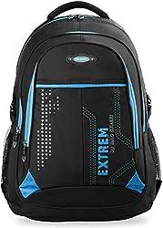 großer Herren - Rucksack Schultasche Freizeittasche Markentasche Bag Street Arbeitstasche, schwarz/blau, Maße: 32 cm x 47 cm x 20 cm