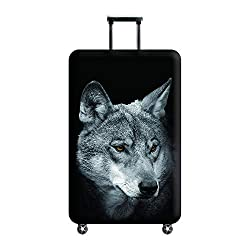 Wolf Design Suitcase Cover £11.99