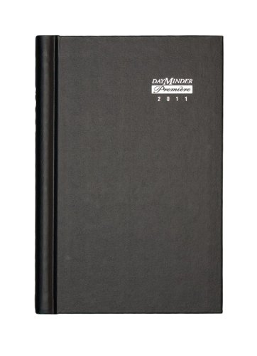 DayMinder G210H00 Hardcover Weekly Appointment Book, 4 7/8 x 8, Black, 2016