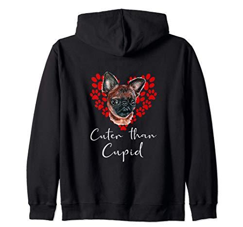 Grifón De Bruselas Cuter Than Cupip Perro Día San Valentín Sudadera con Capucha