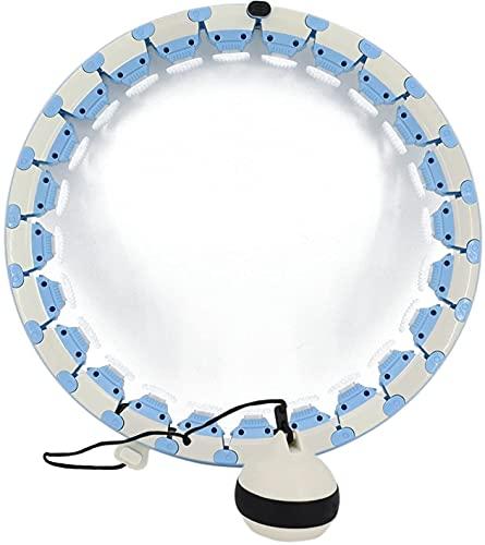 Hu-la Smart Hoop con Peso para Adultos y Niños, 24 Secciones Desmontables Neumáticos y 360 Grados de Masaje, Longitud Ajustable y No Se Cae Artefacto de Pérdida de Peso Masaje Abdominal Poweka