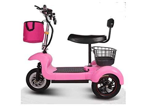 Mini Coche Eléctrico Plegable de Motocicleta, Coche Eléctrico Mini Pedal de Tres Ruedas para Adultos, de Litio Portátil Plegable de Viaje, Bicicleta de Viaje de Motocicleta Al Aire Libre
