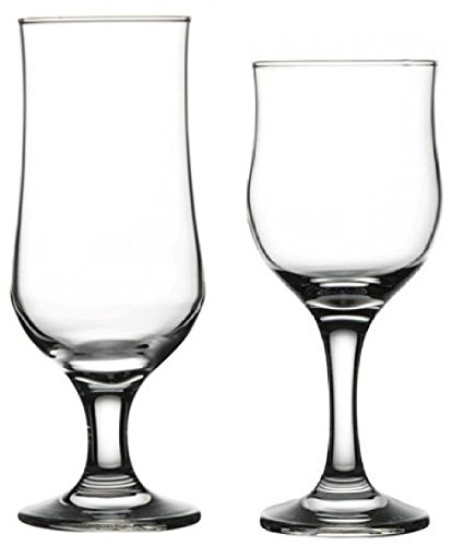 Circleware Regency Huge Glassware Set of 12, Tulipe Wine Glasses & Beer Glasses for Water, Liquor, Iced Tea Kombucha, Punch Juice & Cold Drinks, 6-10.5 oz/6-12.75 oz