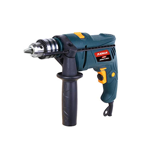 Jemar Tools Impact Drill 650 W, Stepless Drilling Speed Electric Power, 13 mm Key Drill Bit Chuck (without Drill Bits)