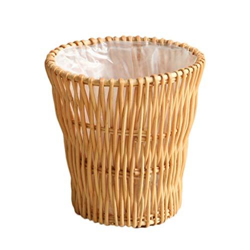 Queen Boutiques rotan creatieve rustieke stijl plaats rotan prullenbak rotan prullenbak bamboe gevlochten prullenbak