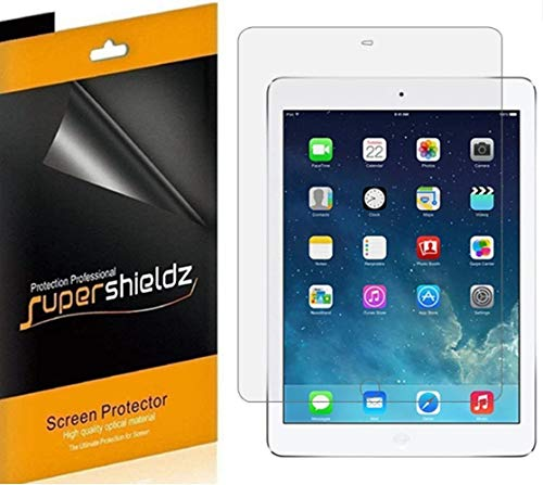 (4 Pack) Supershieldz for Apple iPad Air 2 Screen Protector, High...