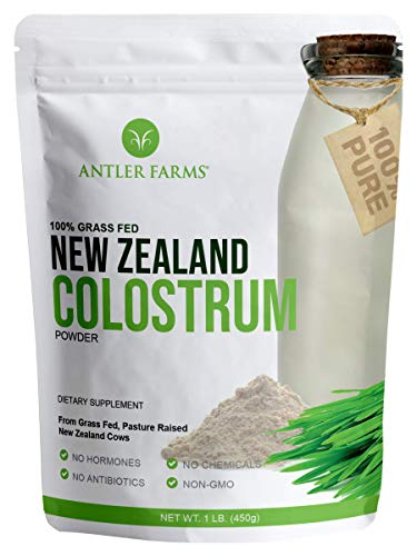 Antler Farms 100% Pure New Zealand Colostrum, 30 Servings, 1 lb - Grass Fed, Pasture Raised, Clean Sourced, Cold Processed, Undiluted, High IgG Content