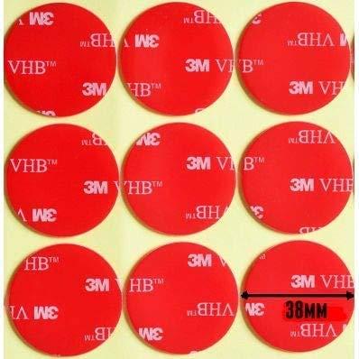 StickersLab - 3M 5952 biadesivo VHB a schiuma acrilica (5 pezzi diametro 58mm)