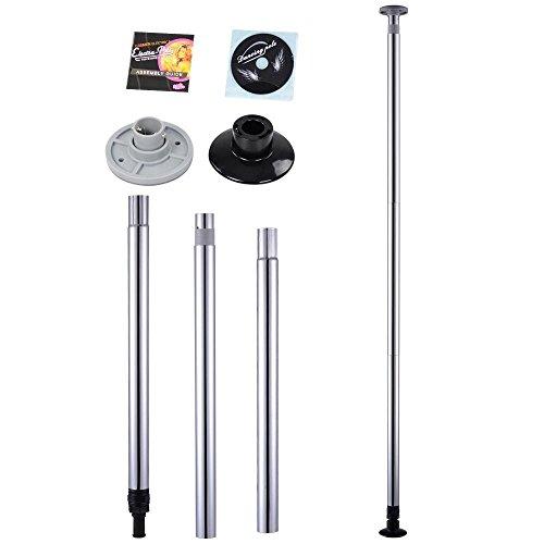 Mophorn Pole Dance Stange 50 mm Pole Dance Tanzstange Edelstahl Static Spining Tanzstange Pole Dance für Zuhause (Silber)