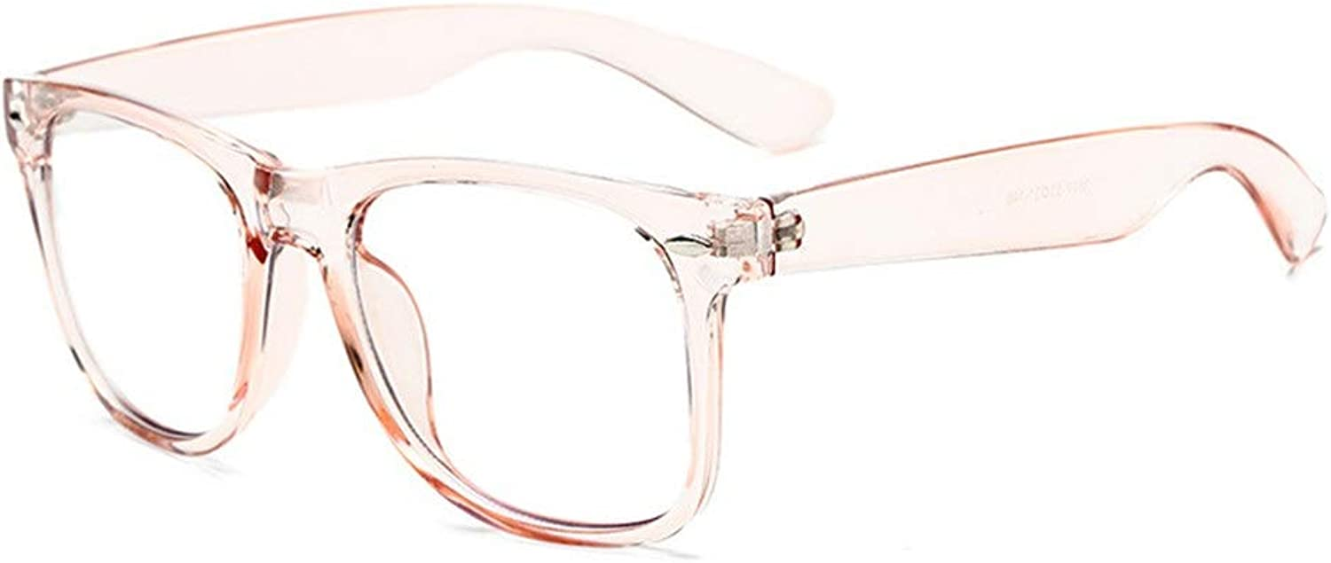Flat blueee Glasses Lens Men and Women LUE Shading Glasses for Sutdents Office Worker (color   C)