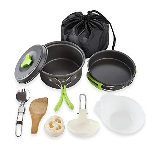 HITECHLIFE 11 Piezas Kit De Acampar Utensilios, Portátil De Cocina De Camping...