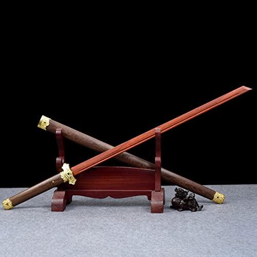 XGMSD Espada samurái de Madera roja Hecha a Mano,Katana Horizontal Tang,con Vaina,Entrenamiento de Kendo Iaido,Cosplay de Bokken,Accesorios de filmación de Cine y televisión