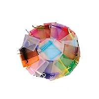 SACS CADZ ORGANZA: la taille totale est d'env. 5 x 7 cm /; 100 sacs en organza, suffisamment pour répondre à vos besoins BELLE COULEUR BLANCHE: beaux sacs pour cadeaux, bonbons, bijoux lors de voyages, décoration, bricolage; Fait d'organza pur, léger...