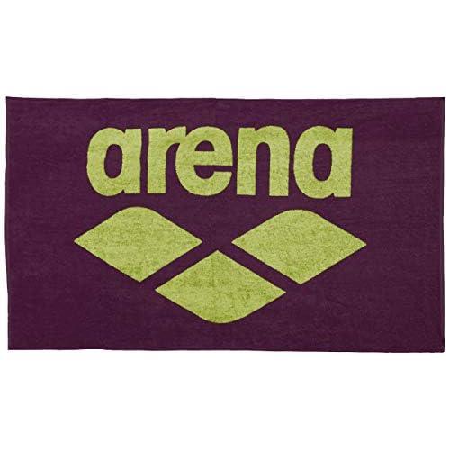 Arena Pool Soft, Telo di Cotone Unisex Adulto, Rosso (Red Wine/Shiny Green), Taglia Unica