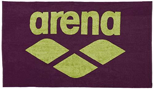 ARENA Pool Towel Toalla de algodón para la Piscina Soft, Adultos Unisex, Red Wine/Shiny Green, Tu