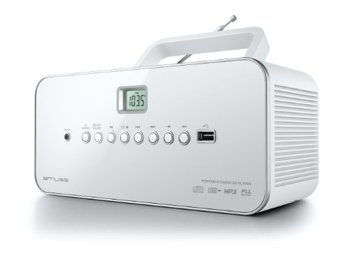 Muse M-28 RDW Radio lecteur de CD/MP3 USB portable Blanc