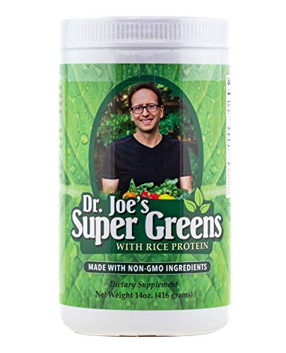Dr. Joe's Super Greens - Vegan, Green, Superfood Powder with Rice Protein