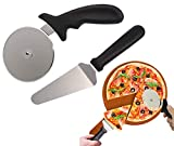 PENGQIMM Cortador de pizza, cortador de pizza, pala de rueda, cortador de pizza de acero inoxidable, mango de silicona antideslizante para pizza, pan, pasteles, galletas, fácil de limpiar