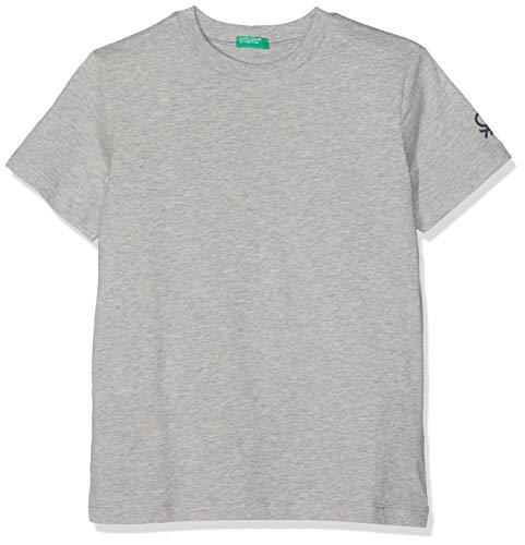 United Colors of Benetton T- Shirt Pull sans Manche, Gris (Grigio Melange 501), Unique (Taille Fabricant: 2Y) Garçon