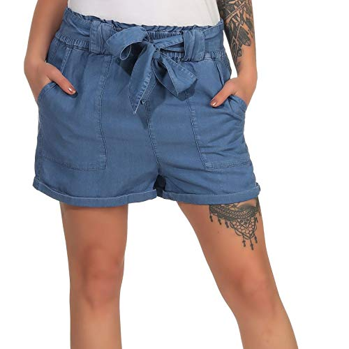 ONLY dames Jeansshorts ONLMANHATTAN DNM PAPERBAG SHORTS