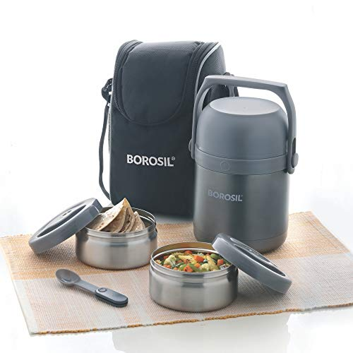 Borosil - Hot-N-Fresh Stainless Steel Insulated Lunch Box