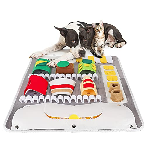 LYWJJ Pet Snot Mat, Interactive Puzzle Toy For Dogs And Cats, Stress And Anxiety Relieving Activity Feeding Mat, Removable Parts, Easy To Clean (Vending machines)