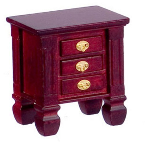 Dollhouse Miniature Mahogany Night Stand