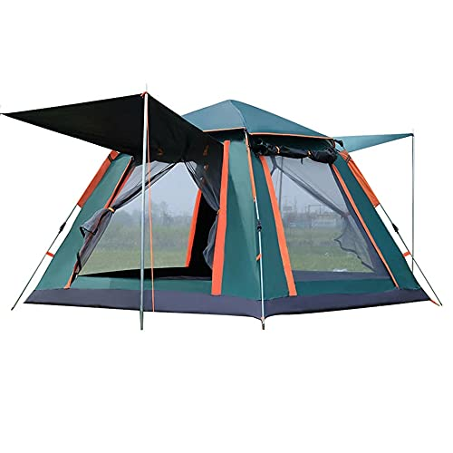 4-Person Waterproof Pop up Camping Tent with Rainfly Instant Tent Portable with Carring Bag