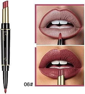 Double-End Lasting Lipliner Waterproof Stick Pencil 16 Color Fashion Women Lip Makeup 6