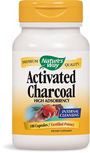 Pack of 4 x Nature's Way Activated Charcoal Hi Pot - 100 Caps