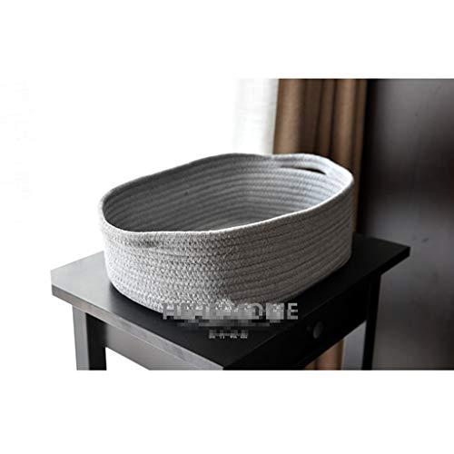 Leileixiao Cesta de almacenamiento de algodón para escritorio, cesta de almacenamiento de cosméticos, caja de almacenamiento sucia, cesta de ropa (color: gris, tamaño: 34 x 24 x 13 cm)