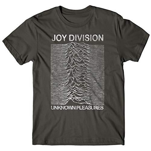 LaMAGLIERIA Herren-T-Shirt Joy Division - Grunge Texture 100% Bauwolle, L, Dunkelgrau