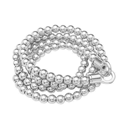 brightsen Collana di Perline di Buddha in Acciaio Inossidabile per Esterni Collana con Bracciale A Mano Catena Squisita in Acciaio al Titanio con Collana in Metallo Pieno