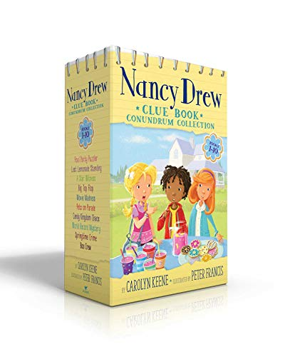 Nancy Drew Clue Book Conundrum Collection: Pool Party Puzzler / Last Lemonade Standing / A Star Witness / Big Top Flop / Movie Madness / Pets on ... Record Mystery / Springtime Crime / Boo Crew