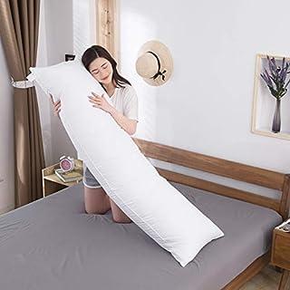 Almohada corporal (sin funda) almohada grande para adultos – Almohada de cama transpirable de larga duración, 50 x 160 cm (20 x 63 pulgadas)