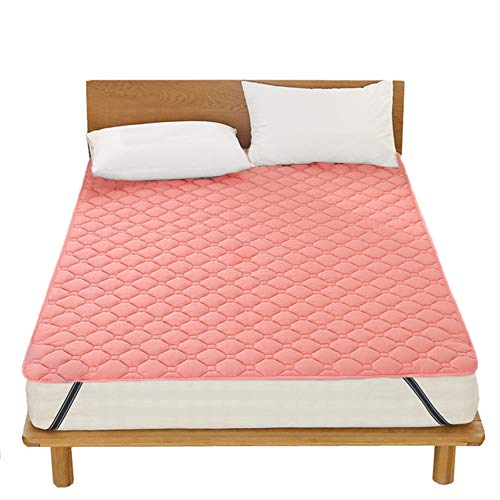 SJH 3D Breathable Thin Cushion,tatami Mattress,healthy And Comfortable Fabric,Washable Non-slip Mattress,foldable,warm And Thick,you Can Enjoy A Fresh Sleep(Color:Pink,Size:200x220cm)