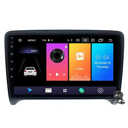 Gokiu Autoradio Navigationssystem für Audi TT MK2 8J 2006-2014 mit 9 Zoll LCD | Android 9.1 | GPS Navigation | Multimedia | Bluetooth Freisprechfunktion | WLAN DSP RDS FM |,4 core,WiFi: 1+16GB