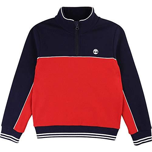 Timberland Jungen Sweatshirt T25Q41 blau-rot (8 Jahre (128))