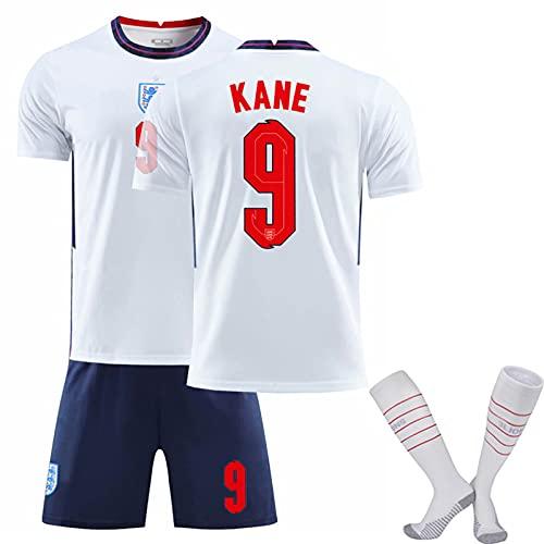 YHJA Camisetas De Fútbol para Niños 20-21 Inglaterra Local No. 9 K.A.N.E....