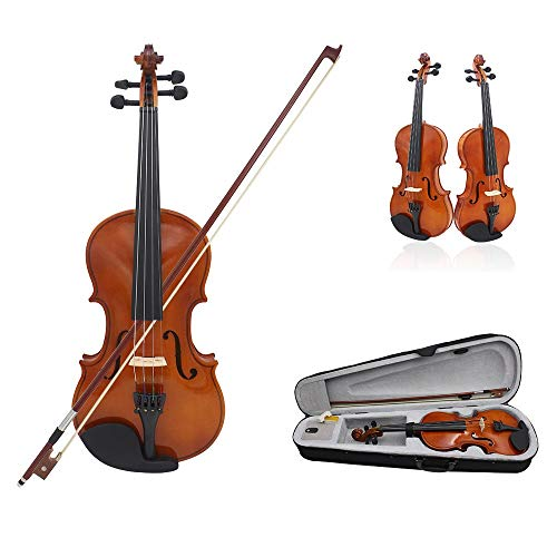 HVTKL Nieuwe 4/4 Volledige grootte Natuurlijke Akoestische Viool Fiddle Craft Violino Met Case Mute Bow Strings 4-String Instrument Voor Beiginner